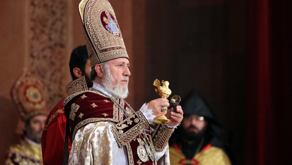 All Armenian Catholicos Garegin B conducts the sanctification ceremony of St. Hovhannes Mkrtich (John Baptist) Church in Abovyan city