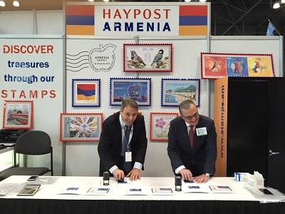 В Нью-Йорке ввели в обращение марку с флагом Армении