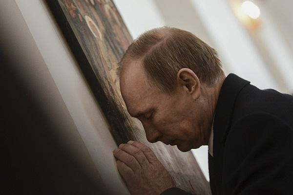 Владимир Путин. Храм святой Александры. Гюмри