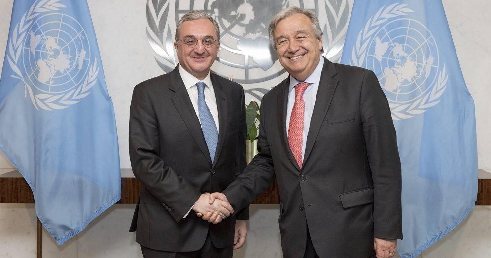 Генсек ООН впечатлен революцией и изменениями в Армении